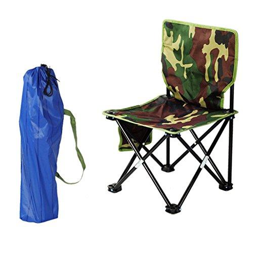 Klappstuhl KKY-Enter Outdoor Rückenlehne Camo Tragbare Camping Strand Angeln Stuhl Hause Urlaub Picknick BBQ Faltbare Hocker (größe : L36*W36*H69cm)