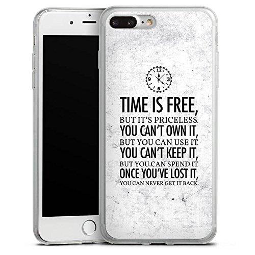 Apple iPhone 8 Slim Case Silikon Hülle Schutzhülle Zeit Sprüche Statement Silikon Slim Case transparent