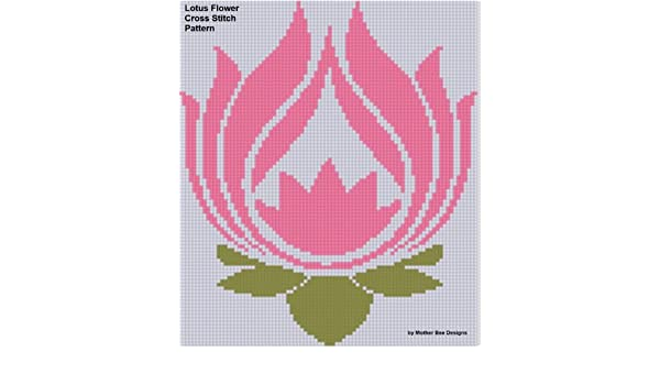 Lotus Flower Cross Stitch Pattern Ebook Mother Bee Designs Amazon