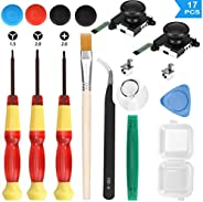 Veperain 2 Pack of 3D Analog Joystick Replacement for Nintendo Switch Joy Con Controller, with Cross & Tri-Wing Screwdrivers