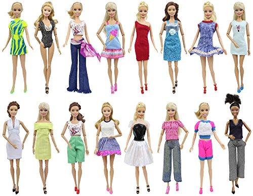 ZITA ELEMENT 20 Pezzi   10 Vestiti Abiti e 10 Scarpe per Barbie Bambola  8478f23166e