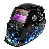 LESOLEIL Masque De Soudure Cagoule Casque Soudage Solaire Automatique Accessoire de Protection Crâne et Flamme