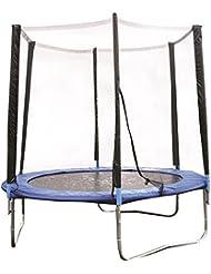 8Ft Outdoor Garden Childrens Bouncy Trampoline & Safety Net Enclosure