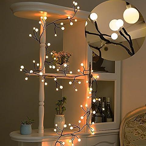 Dekorative Lichterkette, Tofu 8ft Wasserdicht LED-Lichterkette 72Leuchtmittel für Outdoor, Indoor