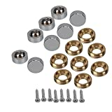 RDEXP Decorative Mirror Screw Screw Cap Fittings Advertising 14mm Set di 8