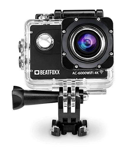 Beatfoxx AC-6000WiFi 4k Full HD Action Kamera (Video: 4096 x 2160p bei 25 fps, Unterwassergehäuse, 170° Weitwinkel Objektiv, integrierte WiFI Schnittstelle, Fernbedienung, umfangreiches Halterungsset) - Sdhc 2.5 Lcd Usb