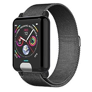 AIFB Schrittzähler, Smartwatch, Herzfrequenz-Monitor, wasserdicht, Schlaf-Tracker, Farbdisplay, Fitness-Tracker, Blutdruckmessgerät für Android iOS Handy, a, Einheitsgröße