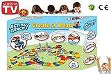 Circuit Voiture Enfant - Magic Tracks Pistes de course de voiture flexibles Ensemble qui changent de direction, comprend des accessoires et 2 voitures pour faire la course les unes contre les autres