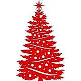 Dimensioni: 60 cm x 100 cm, colore: rosso, decorazione natalizia per albero di Natale, da finestra, da parete, Adesivi da parete, per la stanza dei bambini di Windows Art-Adesivi per decalcomanie, ThatVinylPlace Natale