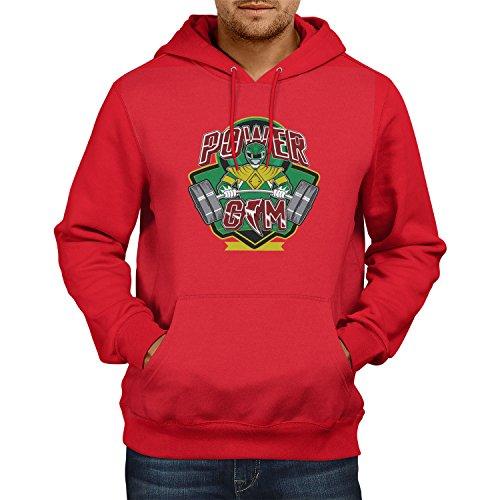 Herren Kapuzenpullover, Größe L, rot (Roten Jungle Fury Power Ranger)