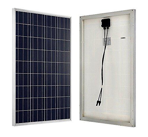 ECO-WORTHY Solarmodul, 100 W, 12 Volt, Polykristalline, zum Laden von Batterien. -