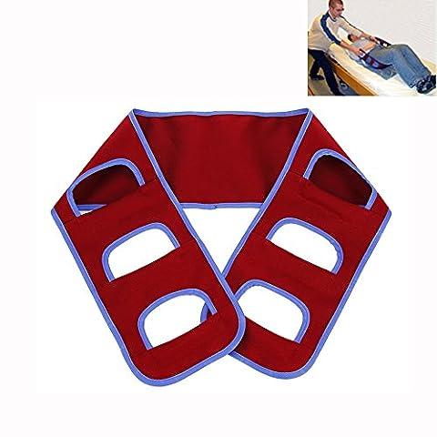 Transfer Belt Medical Lift Sling Patient Care Transport Safety Mobility Aids Equipment for Elderly Disabled Nursing Belt Standing Aids Supports (Scarlet)