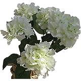DAYAN Artificiale Ortensia Fiore albergo bouquet decorazione festa matrimonio giardino colore bianco