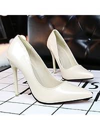 Señaló la moda coreana solo zapatos de tacón simple multa con poca boca era delgada y elegante zapatos de punta...