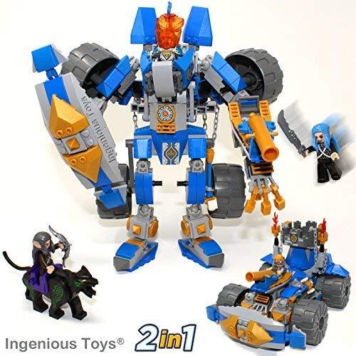 f The Elfen - 2 in 1 The Knight Transformator - Passend Bau Block Set #B313 ()