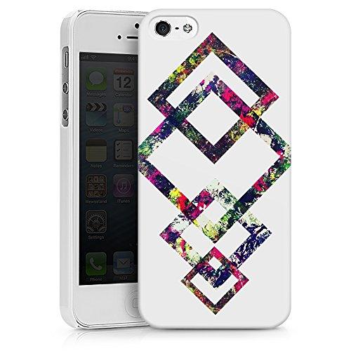 """artboxONE Handyhülle Apple iPhone 6, weiß Silikon-Case Handyhülle """"Coloured Geo Case"""" - Geometrie - Smartphone Silikon Case mit Kunstdruck hochwertiges Handycover von Mia Nissen Hard Case weiß"""