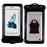 Tarkan IPx8 Waterproof Touch Sensitive Transparent Universal Pouch Cover for All Mobile Phones - Black