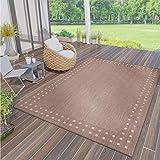 VIMODA Robuster Flachgewebe Teppich In- und Outdoor Tauglich 100% Polypropylen, Maße:160 x 230 cm,...