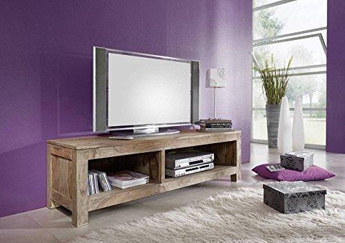 Meuble TV - Bois massif de palissandre huilé - NATURE GREY #0123