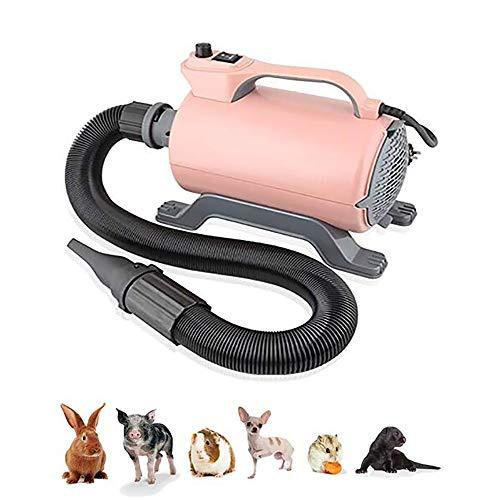FXQIN Hundefön Blower, 2200-W-Motor mit starker Leistung und geräuscharmen und 3 verschiedenen Düsen, professionelles -
