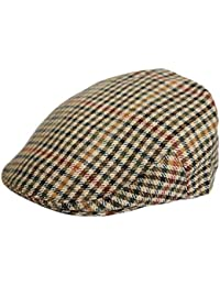 G   H Mens or Boys Tweed Country Flat Cap Peaked Outdoors Check Racing Hat  Newsboy 05e13d2e8ff9