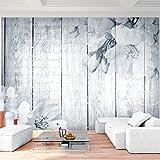 Fototapete Blumen Blau Vlies Wand Tapete Wohnzimmer Schlafzimmer Büro Flur Dekoration Wandbilder XXL Moderne Wanddeko Flower 100% MADE IN GERMANY - Runa Tapeten 9118010c