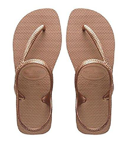 Havaianas Kinder Flip Flops Flash Urban Grösse 35/ 36 EU ( 33/34 Brazilian) Rose Gold Zehentrenner für Kinder