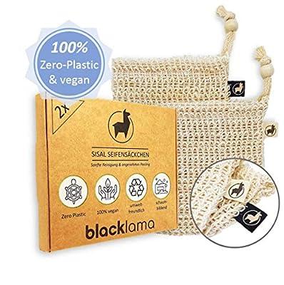 BLACKLAMA [2x] Sisal Seifensäckchen