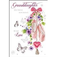 Granddaughter Ballet Shoes Birthday Card