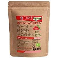 Bio Acerola Pulver (125g/250g) - Vitamin C mit natürlichem Vitamin-C-Gehalt von 18% - Sprühgetrocknetes Saftpulver