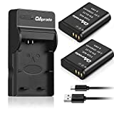 #4: OAproda 2 Pack EN-EL23 Battery and Ultra Slim Micro USB Battery Charger for Nikon Coolpix P900, P600, P610, B700 and S810c Digital Camera (Light Weight, Fast Charge)