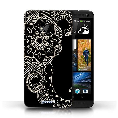 Stuff4® Hülle/Hülle für HTC One/1 M7 / Blume/Schwanz Muster/Henna Tätowierung Kollektion -