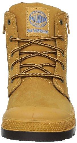 Palladium Hi Lea Gusset K, Boots mixte enfant Jaune (832 Amber Gold/Chocolate)