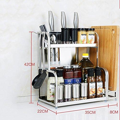 Debout Spice Rack Organisateur De Stockage De Cuisine Tablette Gadgets Slots Couteau Multi-fonction Racks Porte-Outil 40 Cm (taille : Length 35cm)