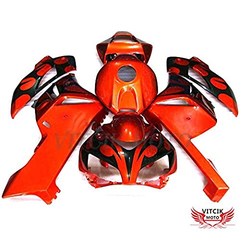 VITCIK (Fairing Kits Fit for Honda CBR1000RR 2004 2005 CBR1000 RR 04 05) Plastic ABS Injection Mold Complete Motorcycle Body Aftermarket Bodywork Frame(Red & Black)
