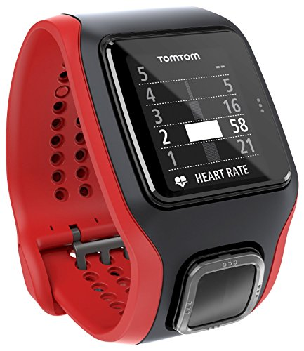TomTom Runner Cardio GPS Running Watch – Red/Black (Certified Refurbished)