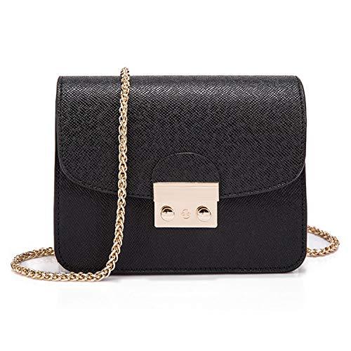 LUI SUI Frauen Mini Handtasche Solid Color PU Leder Clutch Geldbörse Kleine Schulter Crossbody Taschen mit Kettenriemen