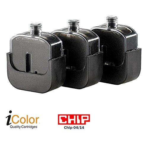 iColor Zubehör zu Refill-Farben: Smart-Refill Tintentanks zu VM-1851, black, 3x 7 ml (Refill-Set für Tinten-Kartusche)