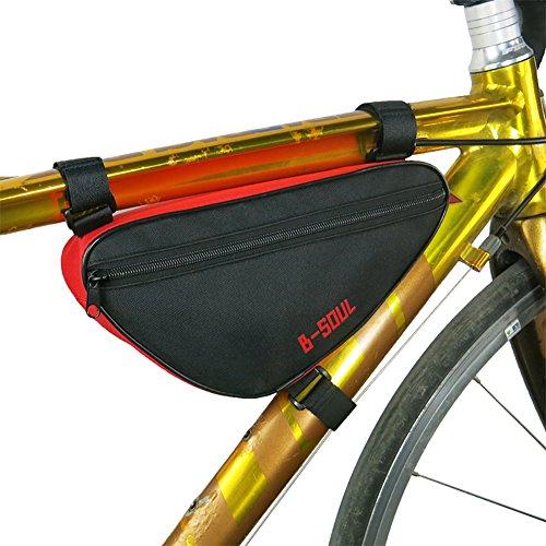Cocohot Wasserdichte Front Frame Head Triangle Storage Pouch Fahrrad Taschen Red