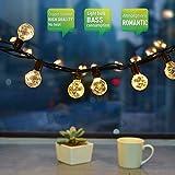 Lichterketten Aussen, 10M 30 Birne LED Lichterkette G40 Schnur Lichter Wasserdicht String Licht als Innen Außen Beleuchtung Deko für Weihnachten Hochzeit Garten Party Haus mit Ersatzbirne
