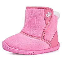 BMCiTYBM Girls Boys Snow Boots Warm Winter Fur Lined Baby Shoes (Infant/Toddler/Little Kid) Pink Size: 12-18 Months Toddler