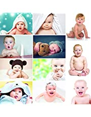 First Art Born Baby Girl/Boy Poster for Wall Pregnant Women Cute Large Posters in Room Bedroom with Big Size Matt Finish, Size - 12 x 18 Inch, Set of 11 Photo