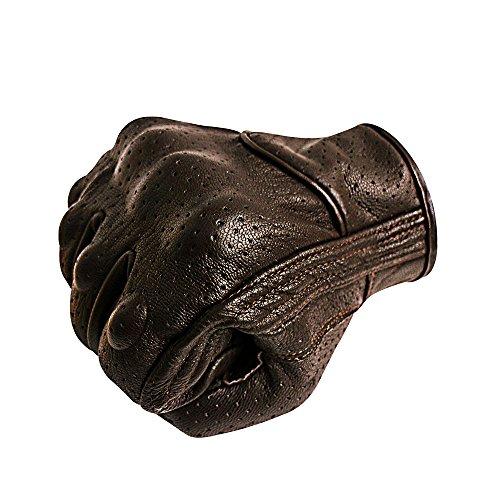 Superbike Da uomo finger completa moto guanti touchscreen in pelle pelle di capra nocche guanti motociclismo