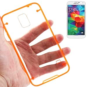 Transparent Plastic + TPU Frame Case for Samsung Galaxy S5 G900 in Orange