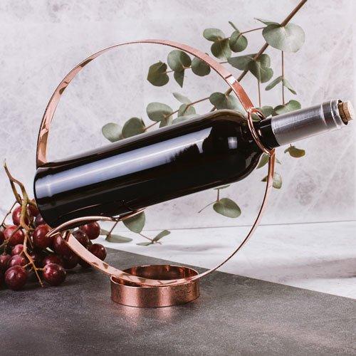 Thumbs Up SO-WINHLD Design Weinflaschen Halter und Ausgießer, Aluminium, Kupfer, 8.5 x 24 x 8.5 cm