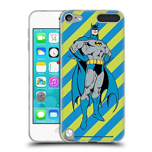 Head Case Designs Offizielle Batman DC Comics Streifen Mode Vintage Soft Gel Huelle kompatibel mit Apple iPod Touch 5G 5th Gen