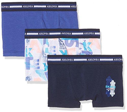 Absorba Underwear Absorba Baby - Jungen Taillenslip OPE GRATUITE, Blau (Matelot), 104, 3er Pack