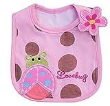 Rethinkso bel bambino bella aereo saliva del bambino bd pettorina impermeabile (Pink Ladybug) immagine