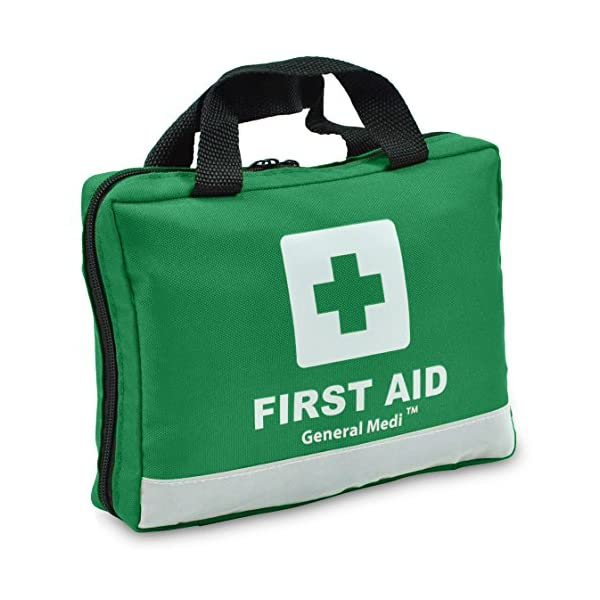 210 Piece First Aid Kit- Emergency kit - Reflective Design - Includes Eyewash, Ice(Cold) Pack, Moleskin Pad and…