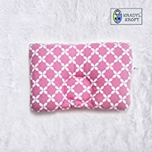 Kradyl Kroft Memory Foam Head Shaping Pillow for Baby (Happy Pink-0 to 3 Months)